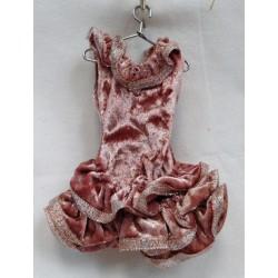 1810 Vánoční dekorace šaty 18cm